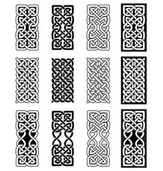 celtic knot inspired by scottish irish carving vector image