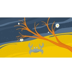 Crab on the Shore vector image vector image