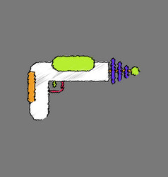 flat shading style icon toy gun vector image vector image