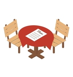 Isometric table in cafe icon vector image