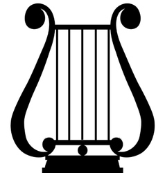 lyra silhouette vector image