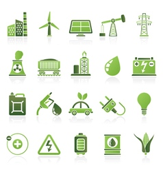 Power energy and electricity Source icons vector image