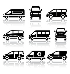 Set of transport icons - van vector