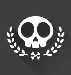 Skull laurel vector image vector image