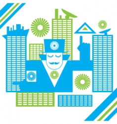abstract male in the city vector image
