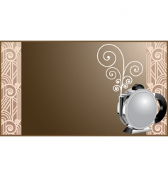 art deco coffee and tea vector image vector image