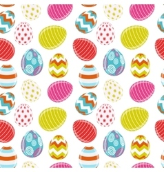 Beautiful Easter Egg Seamless Pattern Background vector image