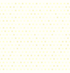 light yellow star pattern seamless background vector image vector image
