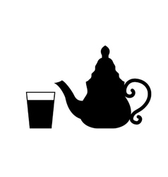 teapot isolated on white vector image