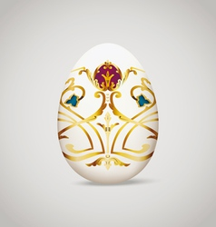 Egg with vintage decoration vector image vector image
