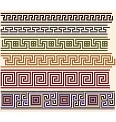 greek meanders vector image