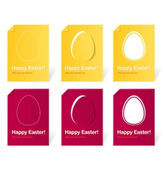 Happy Easter holiday cards set vector image vector image