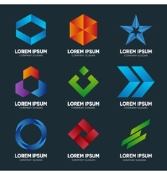 Set of abstract logo design template Abstract vector image vector image