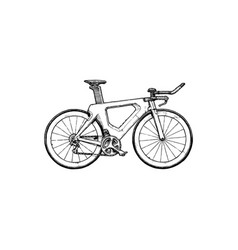 time trial bicycle vector image vector image