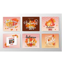 autumn sale banner background design vector image