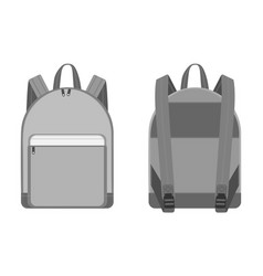 Backpacks for schoolchildren students travellers vector