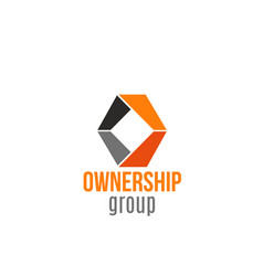 badge for ownership group vector image