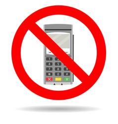Ban credit card payment vector