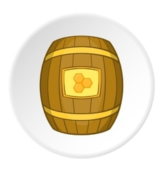 Barrel with honey icon cartoon style vector