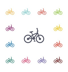 bike flat icons set vector image