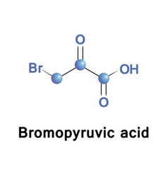 Bromopyruvic acid bromopyruvate vector