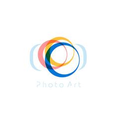 camera abstract logo template minimal vector image