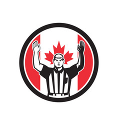 Canadian football referee canada flag icon vector