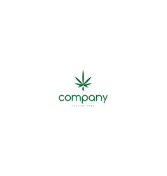 Cannabis green leaf abstract logo image vector