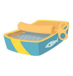Canned fish icon cartoon style vector
