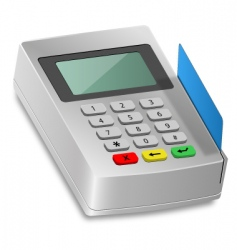 card reader vector image