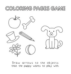cartoon dog coloring book vector image