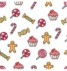 Christmas pattern sample vector