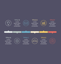 Circle arrows timeline infographic cycle vector