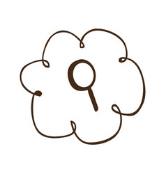 Cloud service search icon vector
