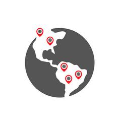 Coronavirus decease outbreak covid-19 location vector