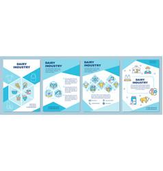Dairy industry brochure template vector