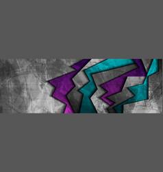 dark grunge corporate abstract banner vector image