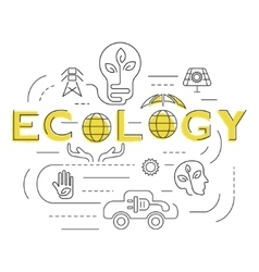 Ecology Business template vector