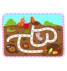 Educational maze game for children vector