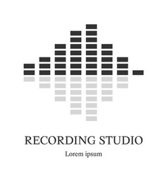 equalizer icon music logo template recording vector image