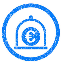 Euro standard rounded grainy icon vector