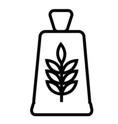 flour icon vector image