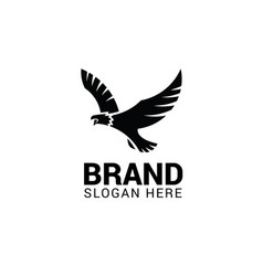 flying eagle logo template vector image