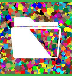 folder sign white icon on vector image