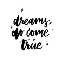 follow your dreams card vector image