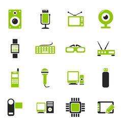 Gadget icon set vector