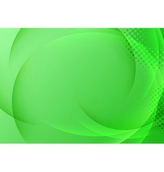 Green background with transparent waves vector