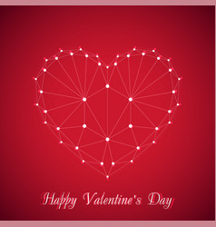 Heart happy valentines day vector