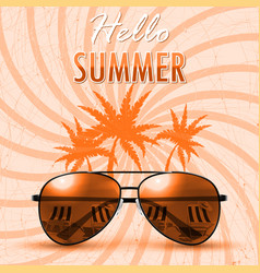 hello summer summer background banner vector image vector image