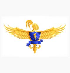 heraldic element concept vector image